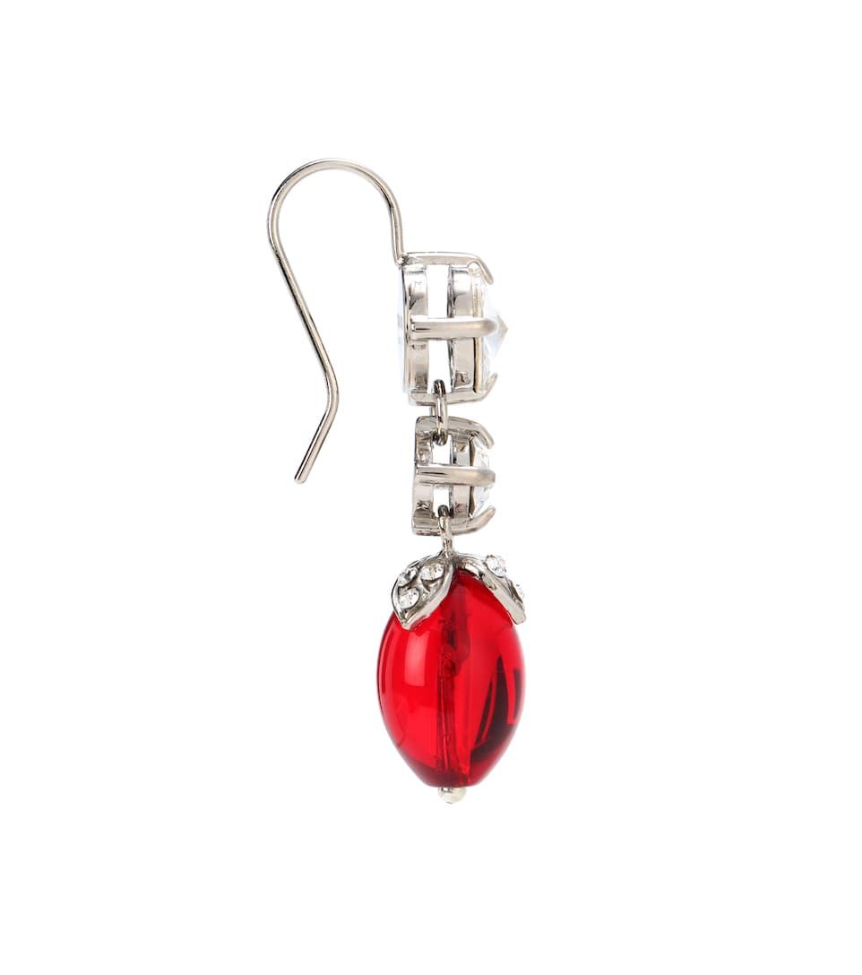 Miu Miu - Boucles d'oreilles à cristaux
