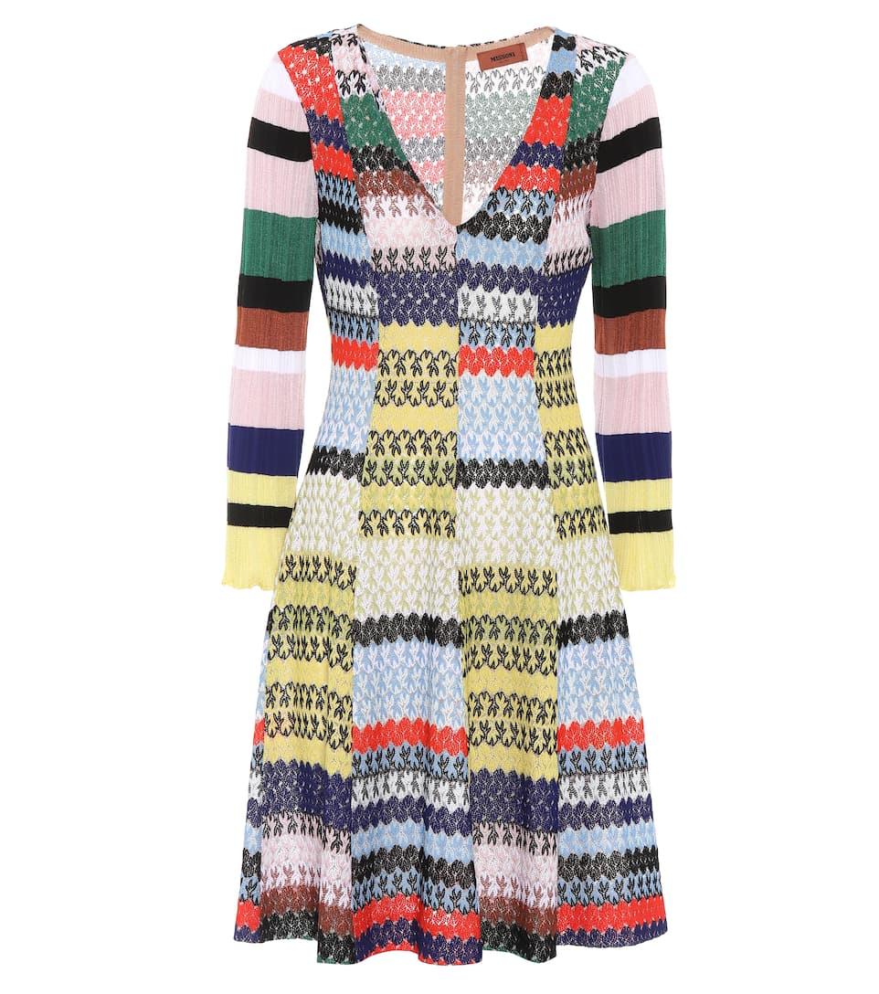 Missoni Kleid mit V-Ausschnitt
