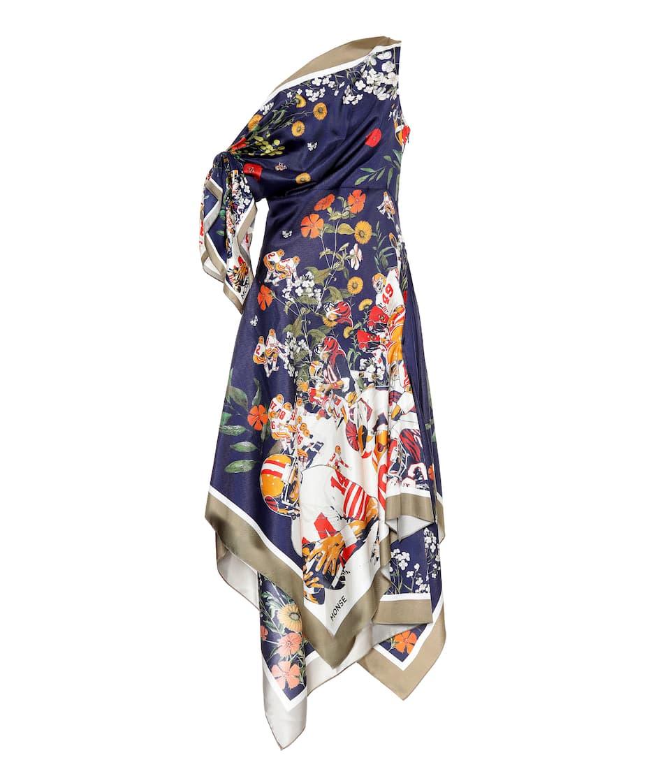 Monse - Robe asymétrique en soie imprimée
