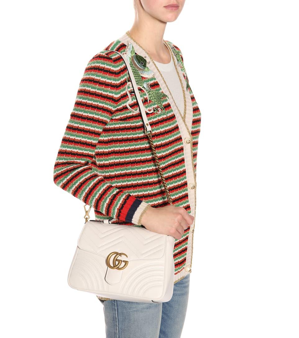 Zum Verkauf Günstig Online Gucci Schultertasche GG Marmont Medium aus Leder Auslauf Spielraum Mit Mastercard 0nqehY