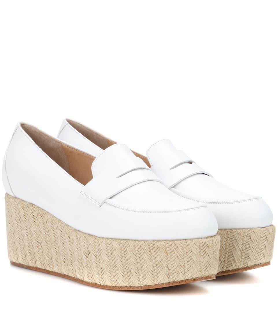 Gabriela Hearst Plateau-Loafers Brucco aus Glattleder