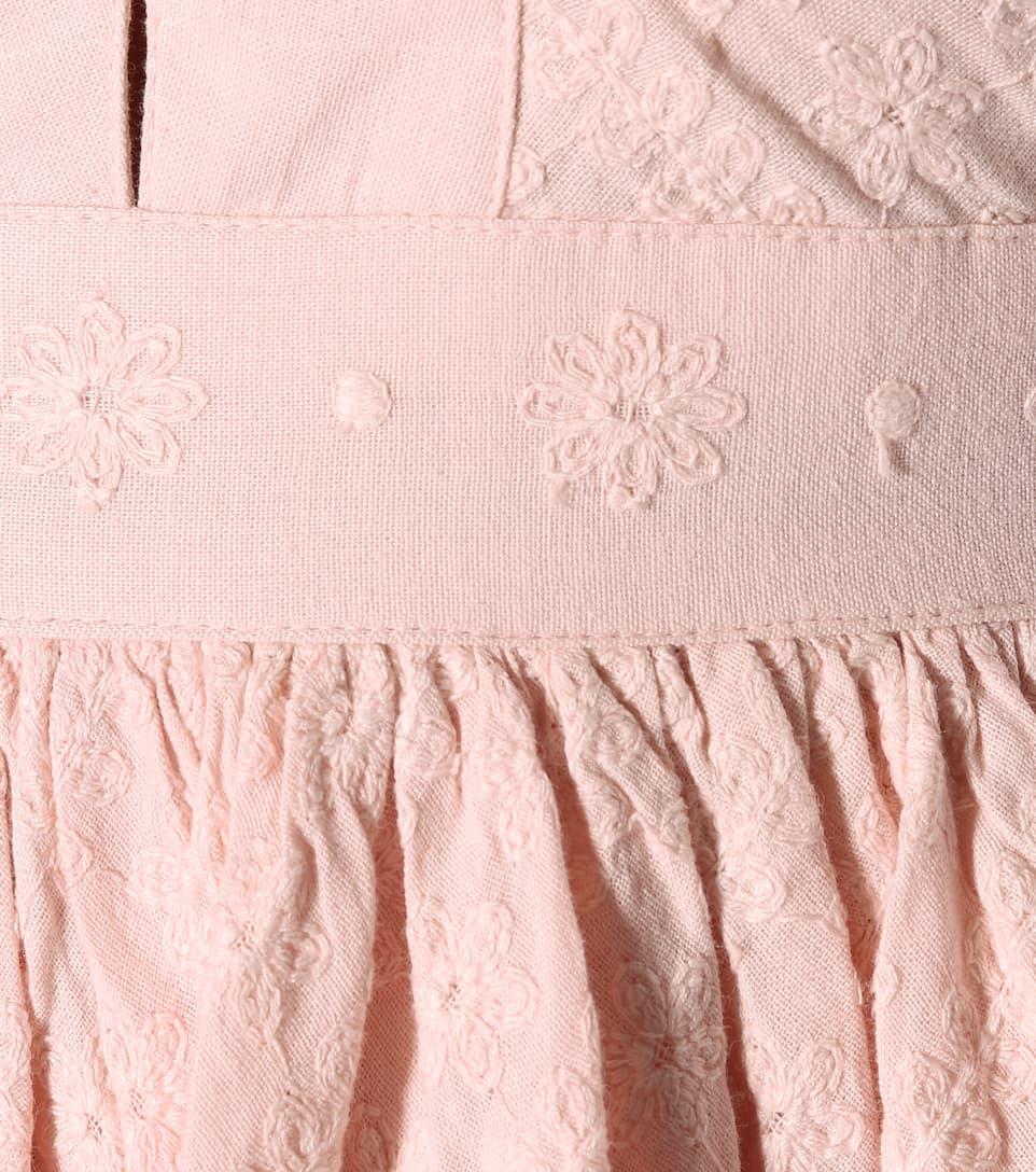 She Made Me Besticktes Minikleid Sita aus Baumwolle