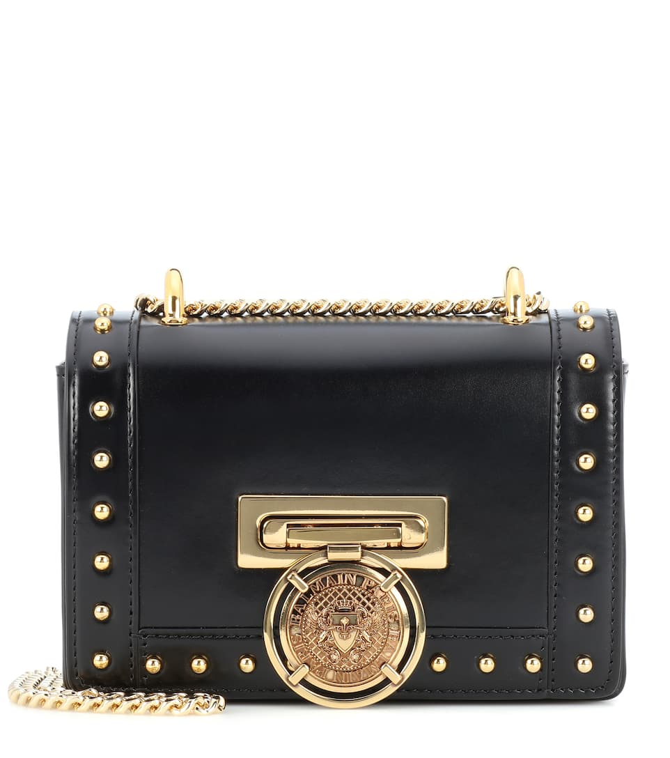 Baby B Box Leather Shoulder Bag by Balmain