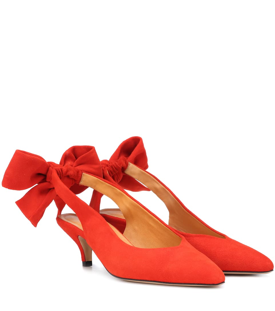 Exclusive to mytheresa.com - Sabine suede slingback pumps Ganni PTGnmmr