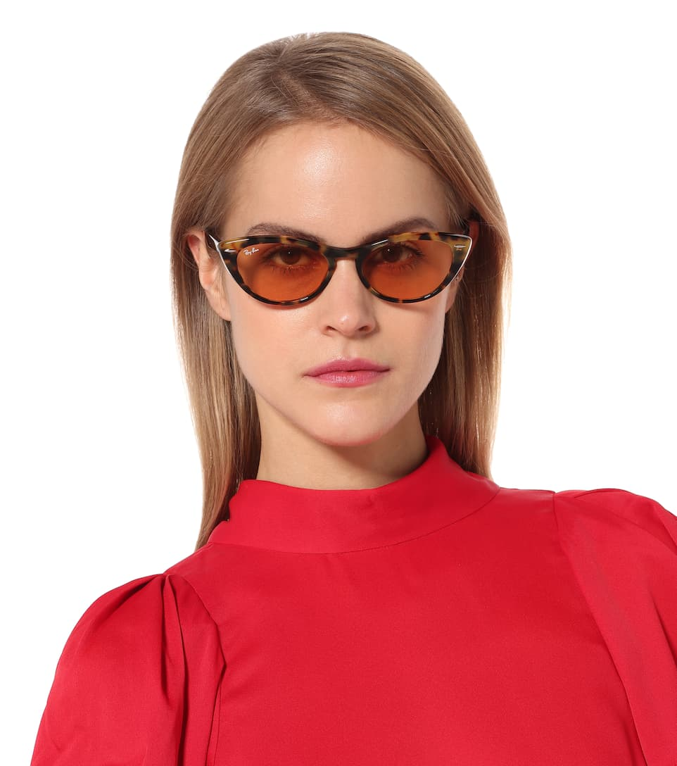 ce5e989c8c3f2 Nina X cat-eye acetate sunglasses. Ray-Ban