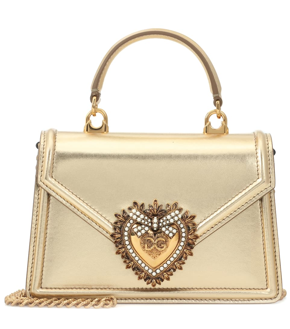 Dolce   Gabbana - Small Devotion leather shoulder bag  8ccd2d1d1edc0