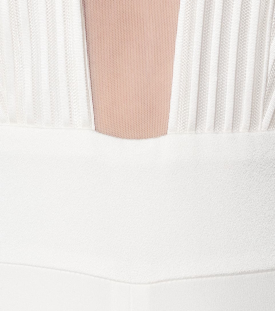 Galvan - Soho satin-crêpe bridal jumpsuit