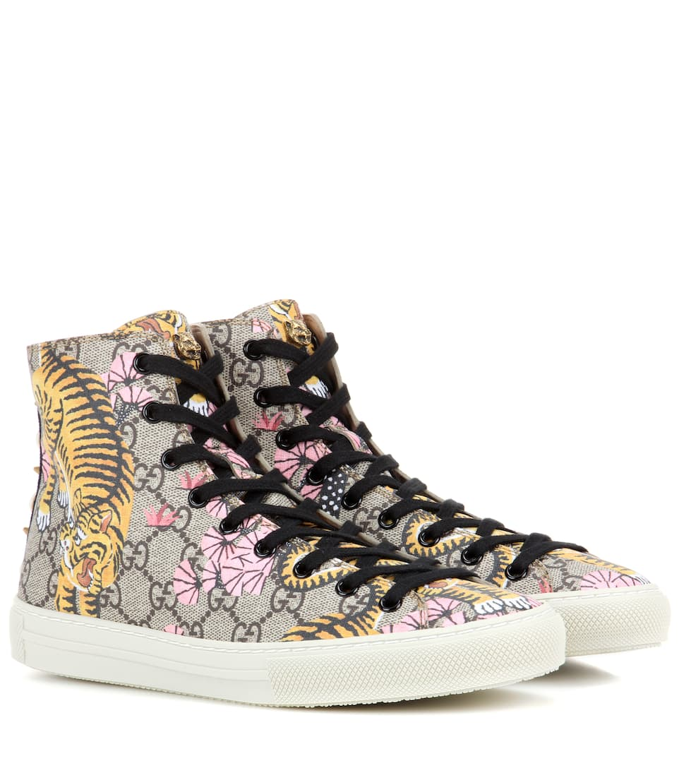 gucci gucci bengal high top sneakers. Black Bedroom Furniture Sets. Home Design Ideas