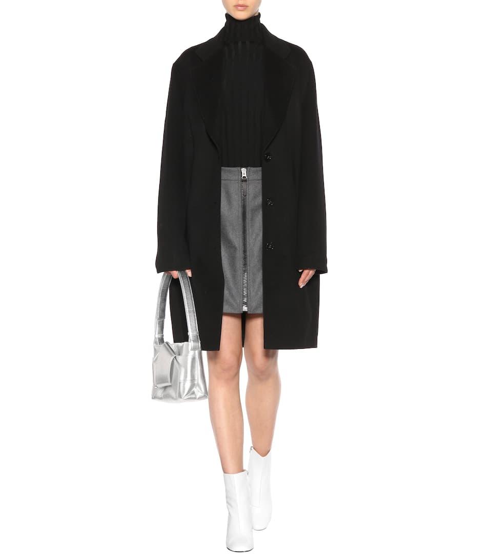 Studios abrigo negro de cachemir Acne y Landi lana UvwxZ