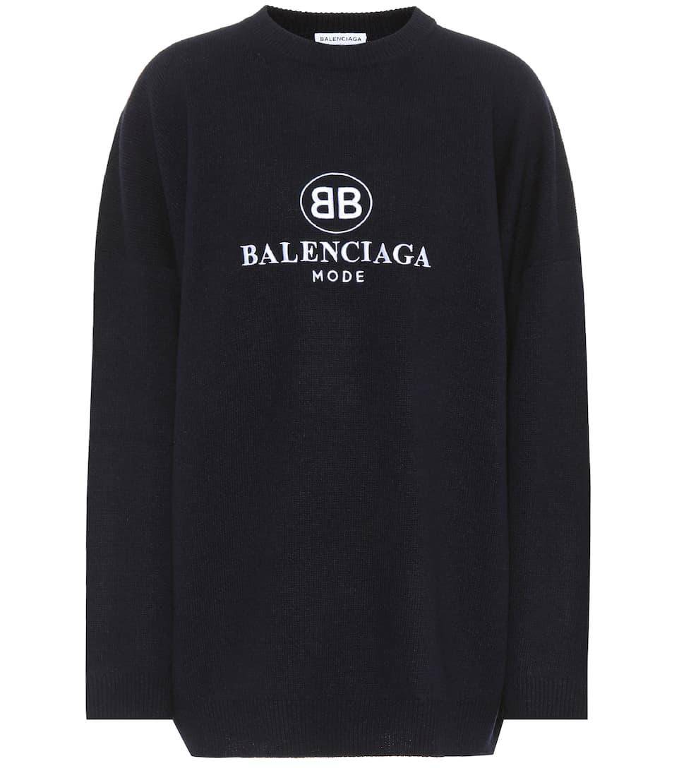 Balenciaga Pullover mit Woll- und Cashmere-Anteil
