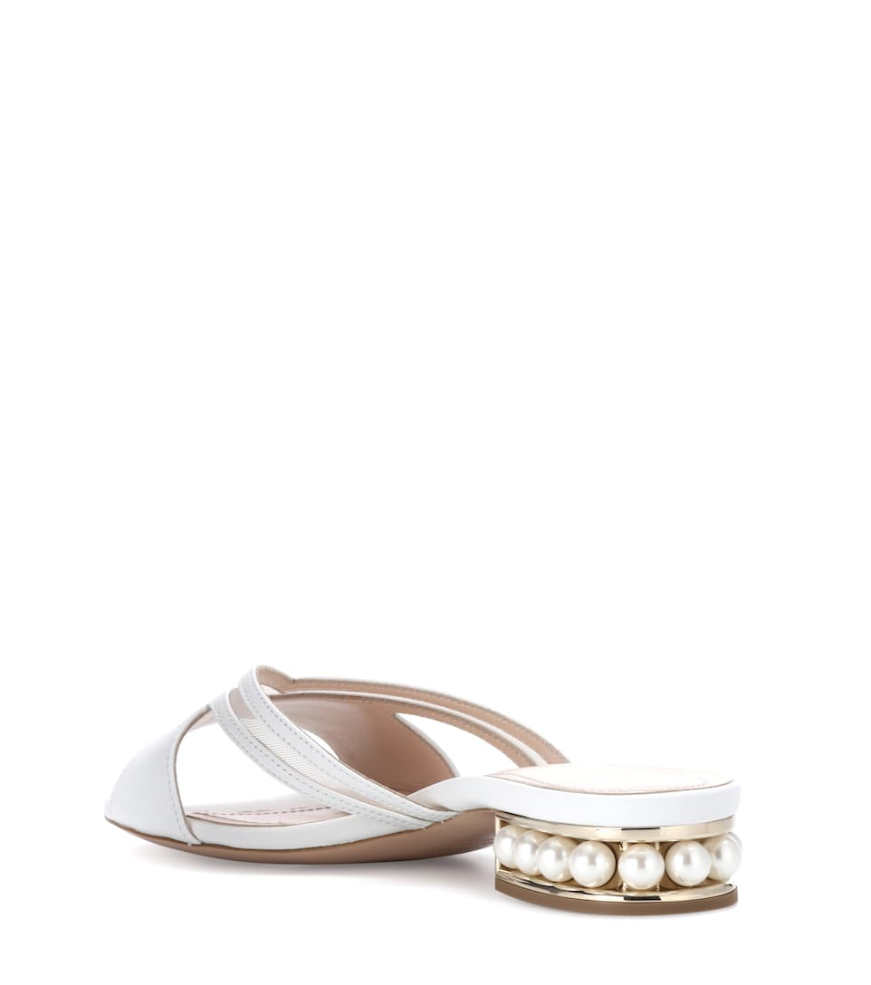 For Nice Online Nicholas Kirkwood Casati 18 leather sandals White Buy Cheap Huge Surprise Buy Cheap Footlocker Finishline Fast Delivery Online Recommend Cheap Price 1VXlYSqW
