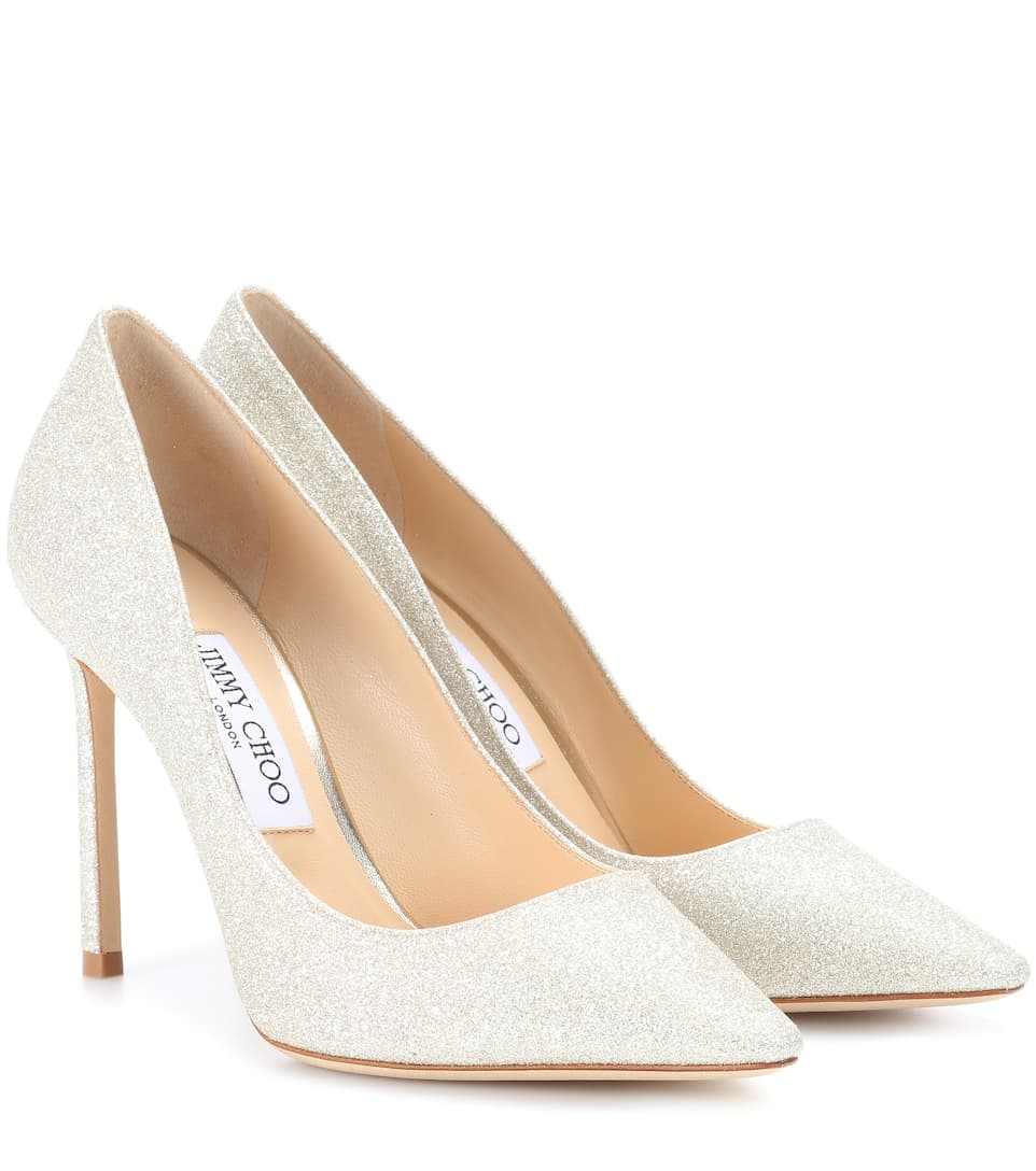 Jimmy Choo Pumps Romy 100 aus Glitter