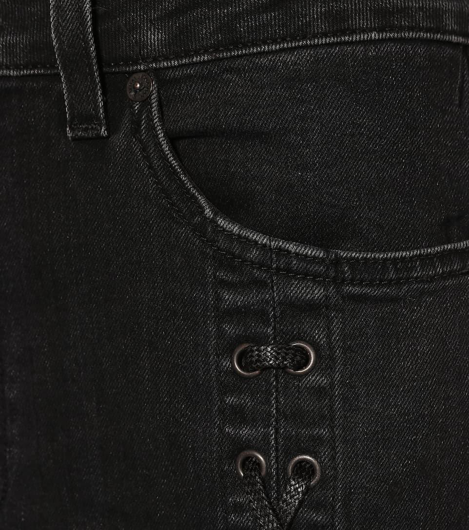 Jonathan Simkhai High-Rise Jeans mit Schnürung