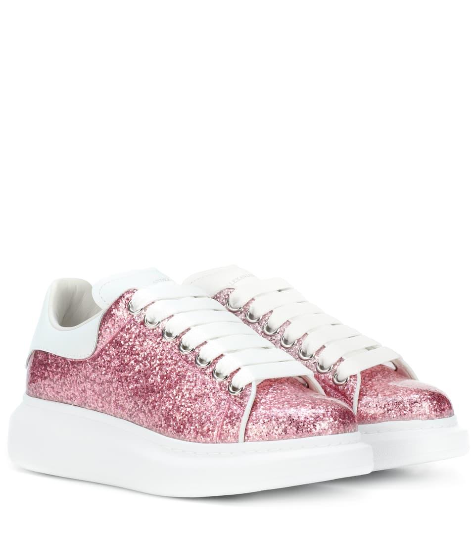 Alexander McQueen Plateau-Sneakers Larry mit Glitter
