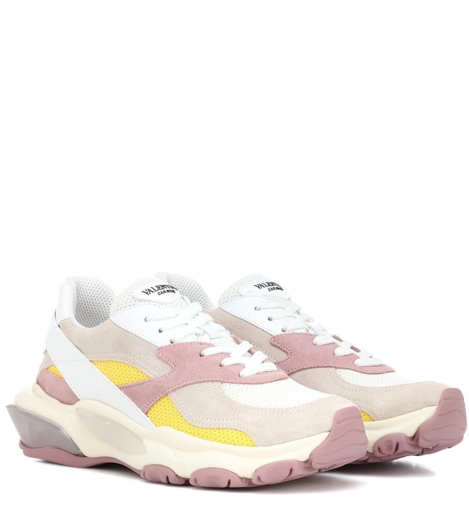 b6c14468d5072 Valentino Garavani Bounce Suede Sneakers - Mytheresa