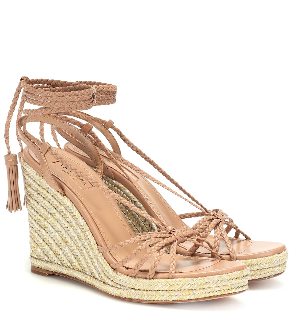 08062f18e04 Savannah Espadrille 85 Leather Wedges | Aquazzura - Mytheresa