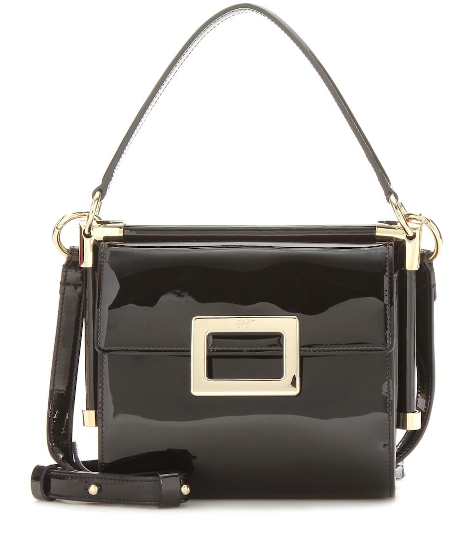 Miss Viv' Carre' Mini Patent Leather Shoulder Bag - Roger Vivier | mytheresa