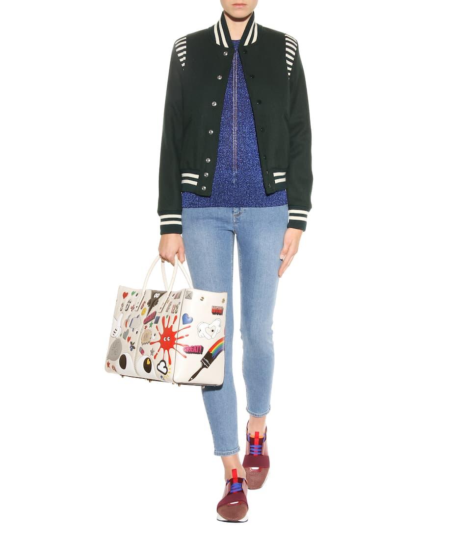 Anya Hindmarch Shopper Ebury Maxi II All Over Stickers aus Leder Steckdose Am Besten 4KttrqVnzm
