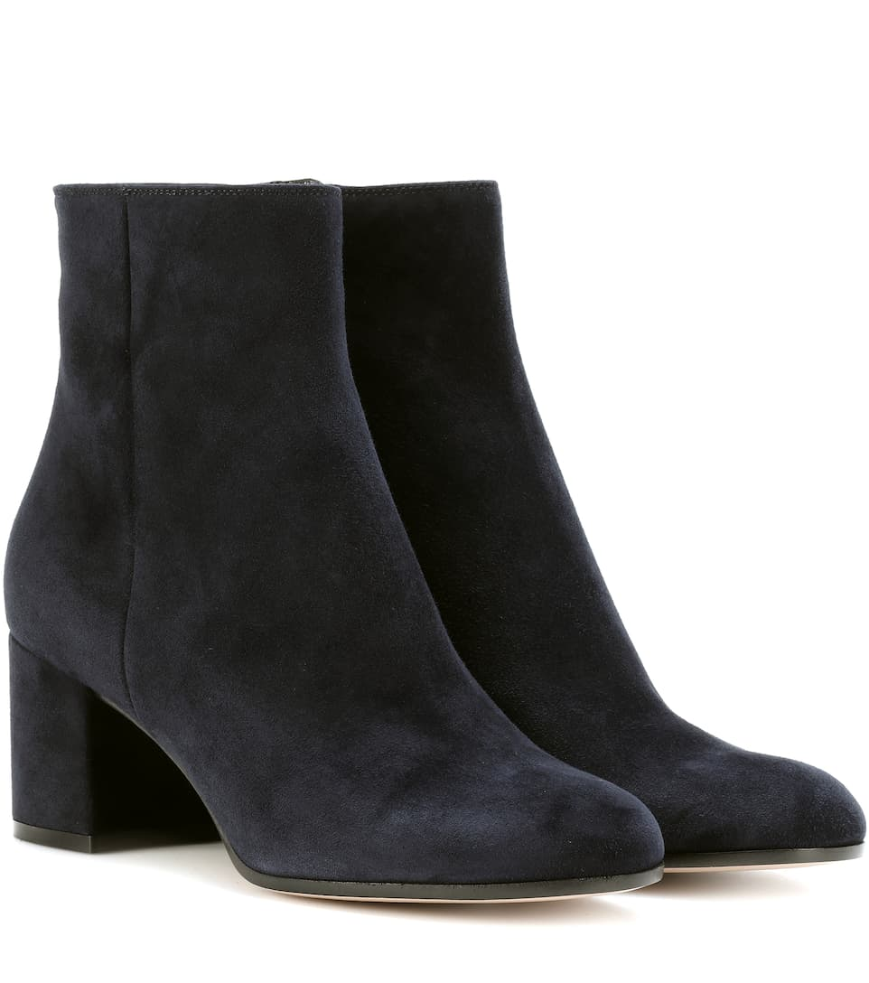 Exclusif À Mytheresa.com- Margaux Bottes Velours Cheville Gianvito Rossi CypVR