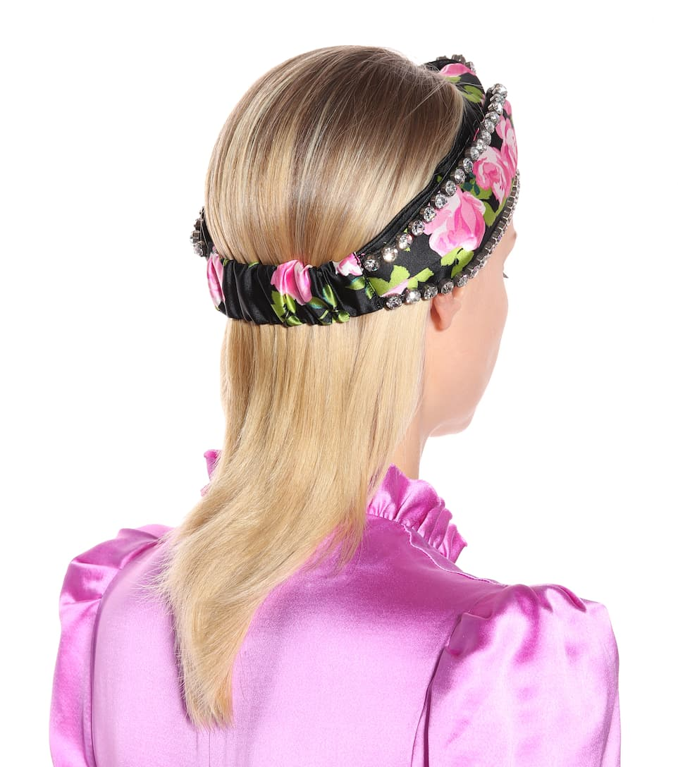 Embellished silk headband Gucci 1wF5IY2I