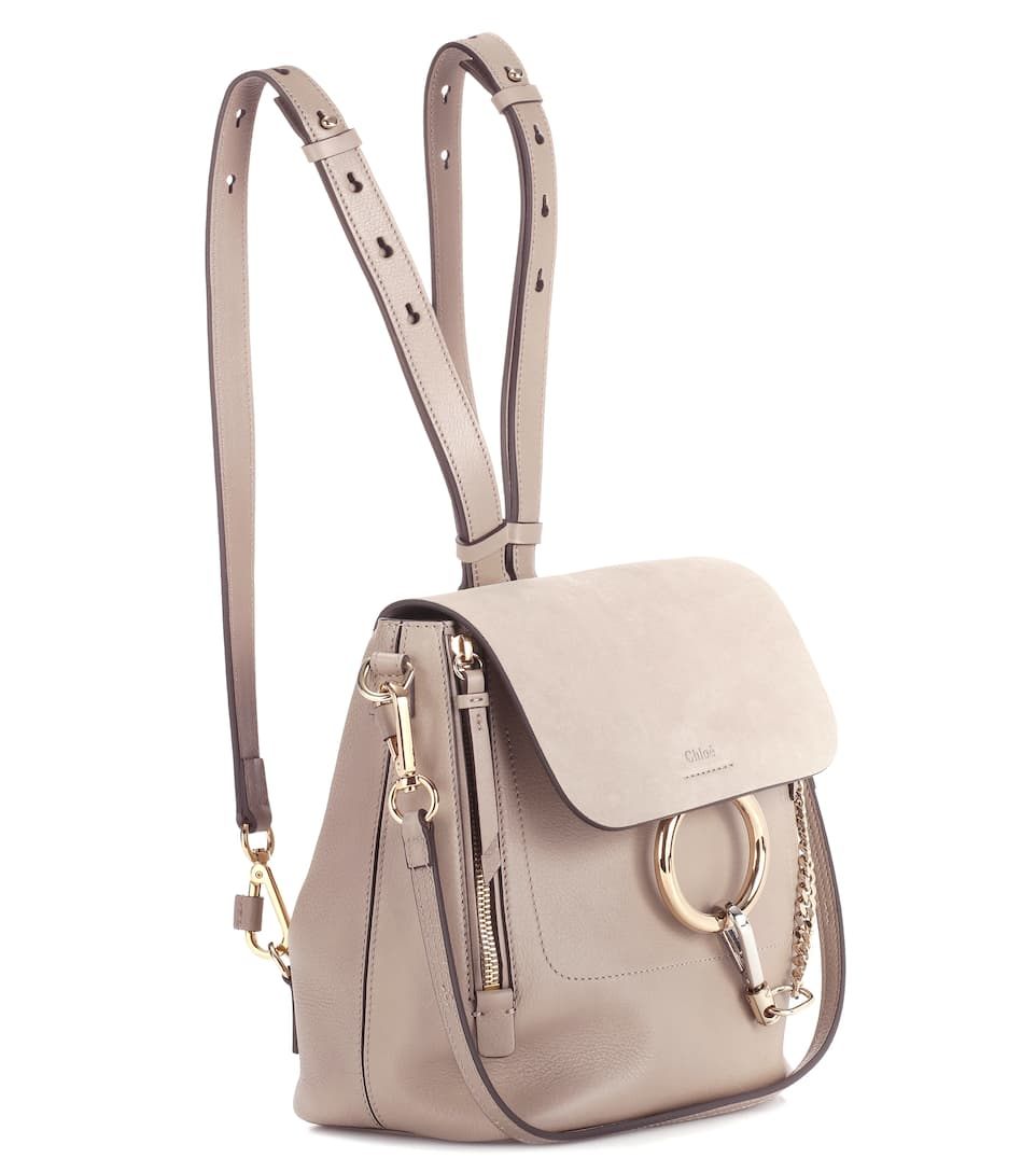 Chloé Backpack Faye Of Leather And Suede