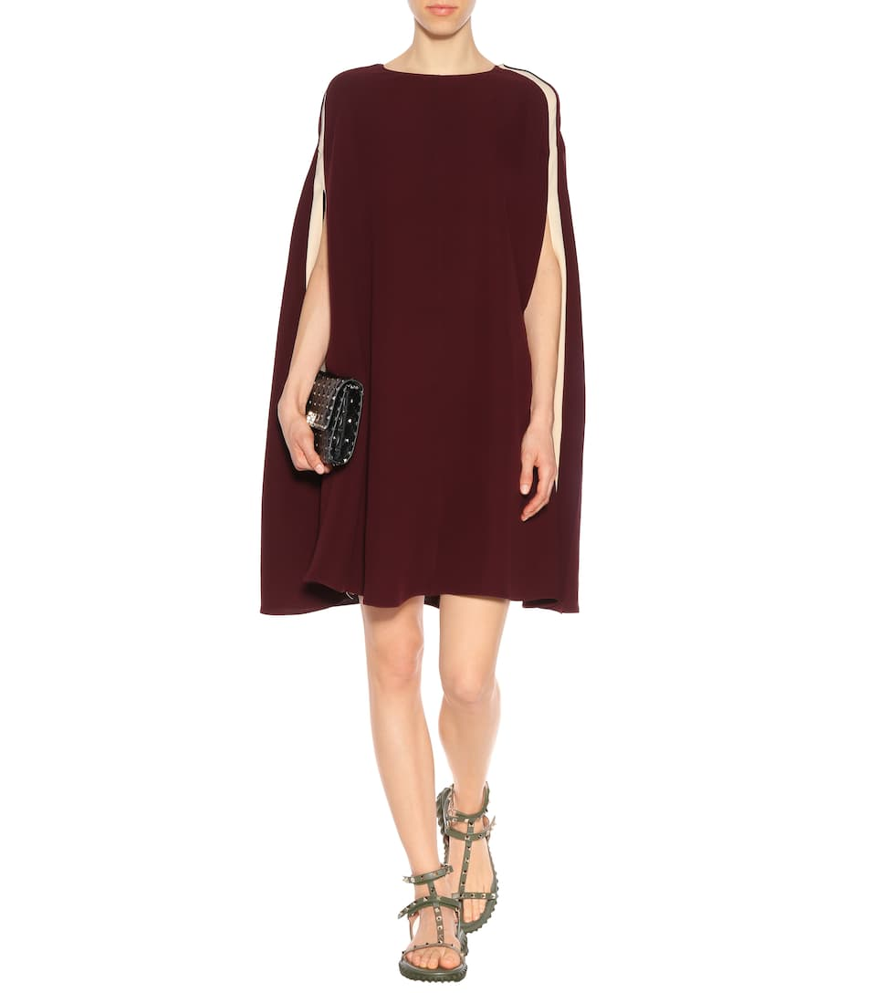 Valentino Cape-dress In Cady