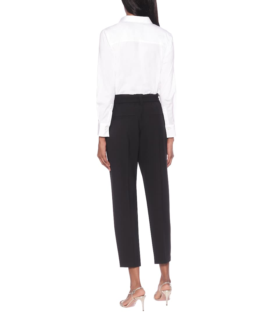 Brunello Cucinelli - High-rise cropped straight pants