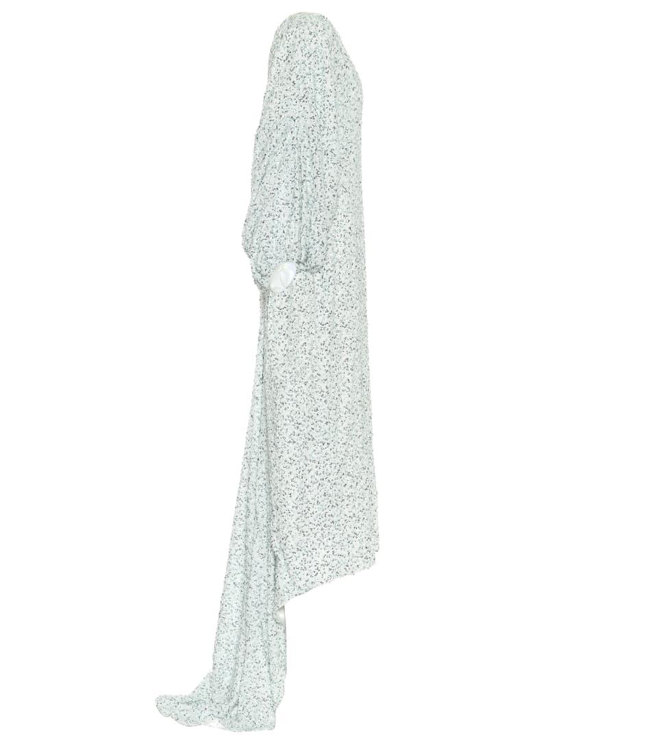 Halpern - Sequined asymmetric dress