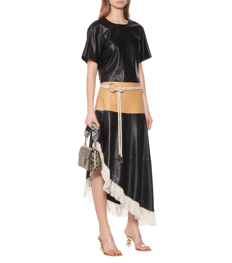 Stand Studio - Amelia leather midi skirt