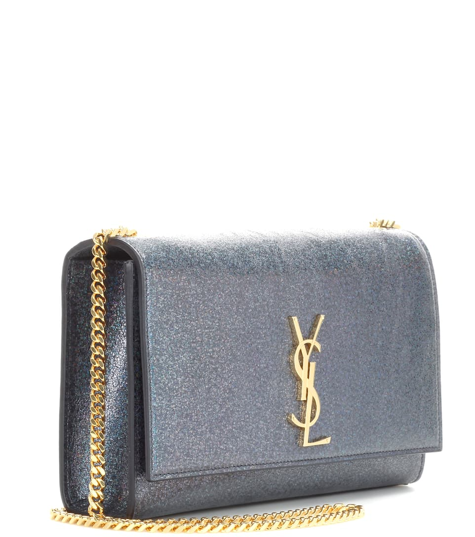 Saint Laurent Schultertasche Kate Medium aus Metallic-Leder