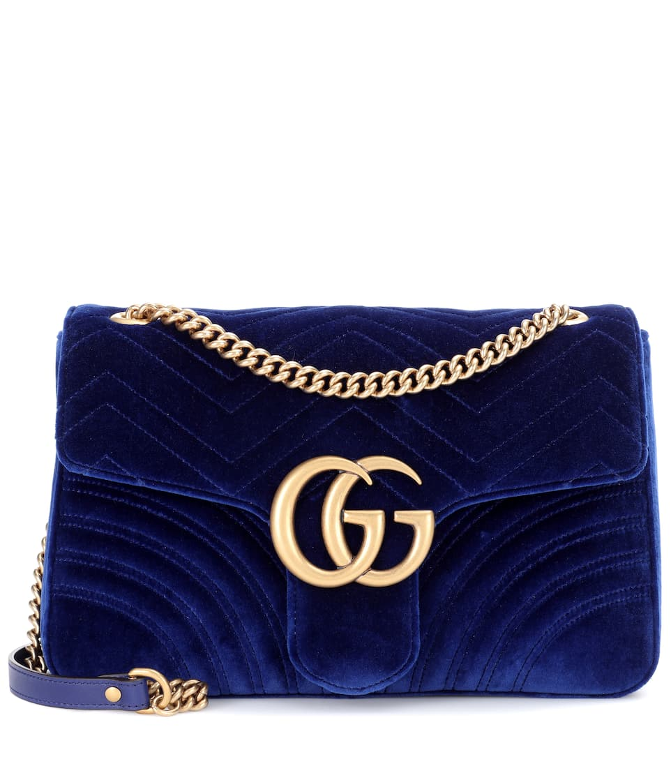 5f67c907c67d Gg Marmont Medium Velvet Shoulder Bag - Gucci
