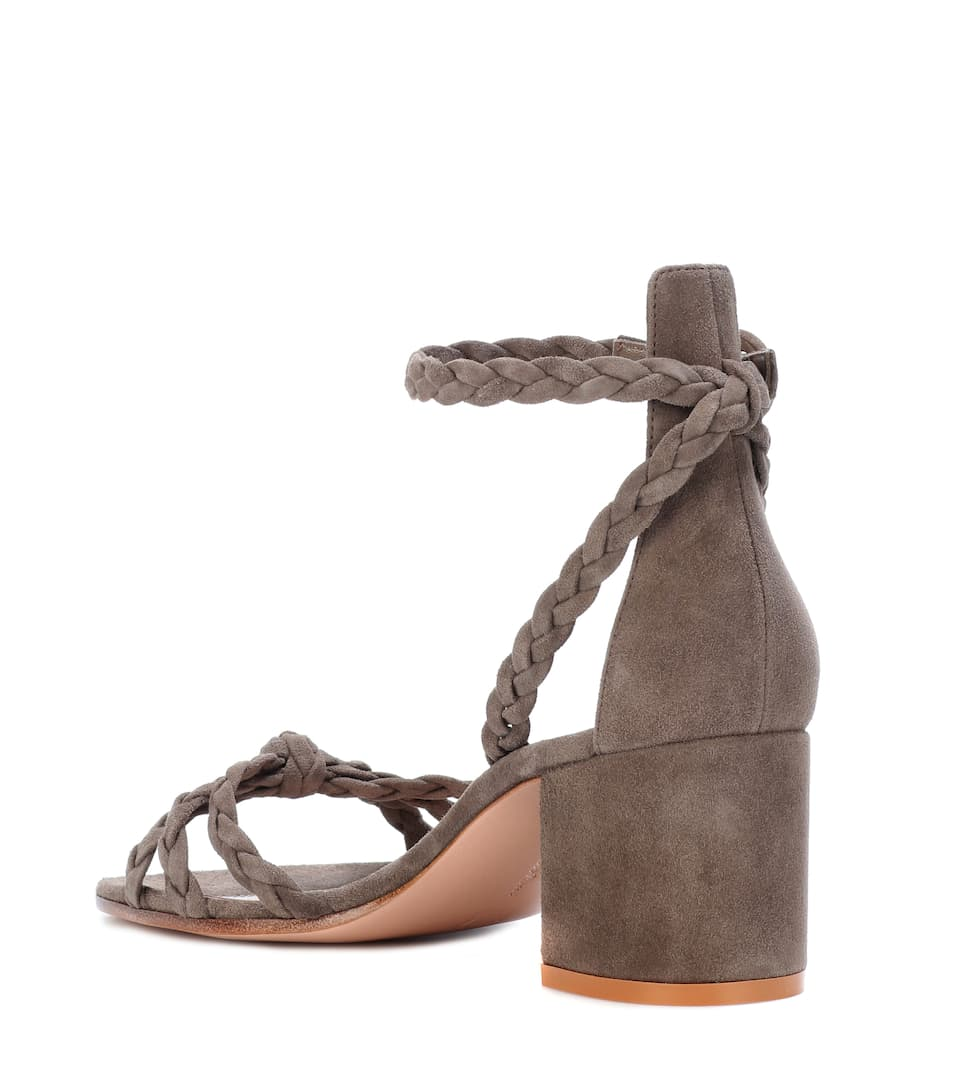 Liya Suede Sandals Gianvito Rossi Tendencies Footbed 2 Strap Brown 41