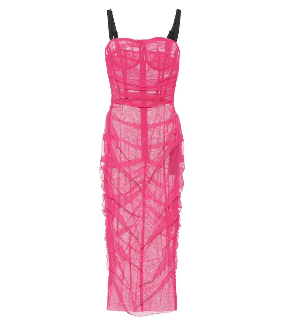 Robe Midi En Tulle - Dolce & Gabbana Achats En Ligne De Haute Qualité Meilleur Magasin Pas Cher Pour Obtenir Geniue Réduction Stockiste dPjVwY