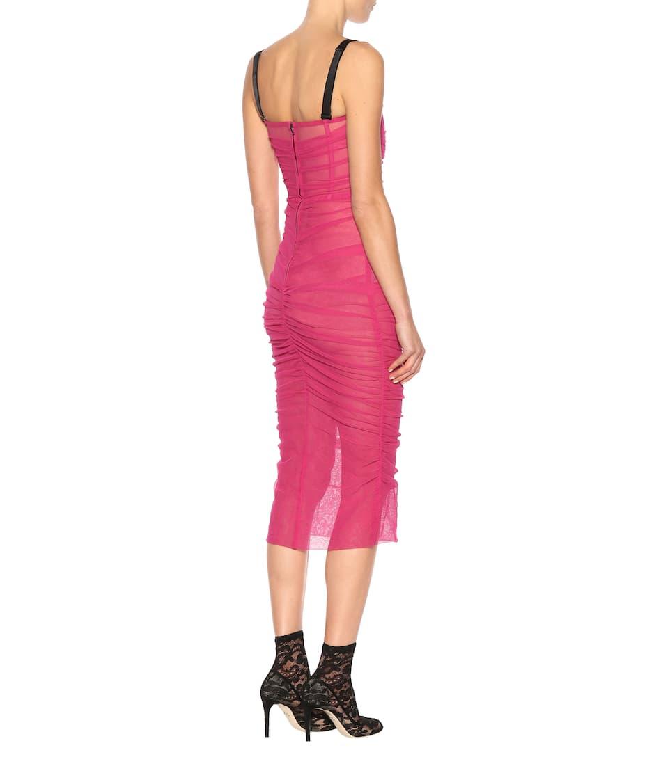 Dolce & Gabbana Kleid aus Tüll-Strech