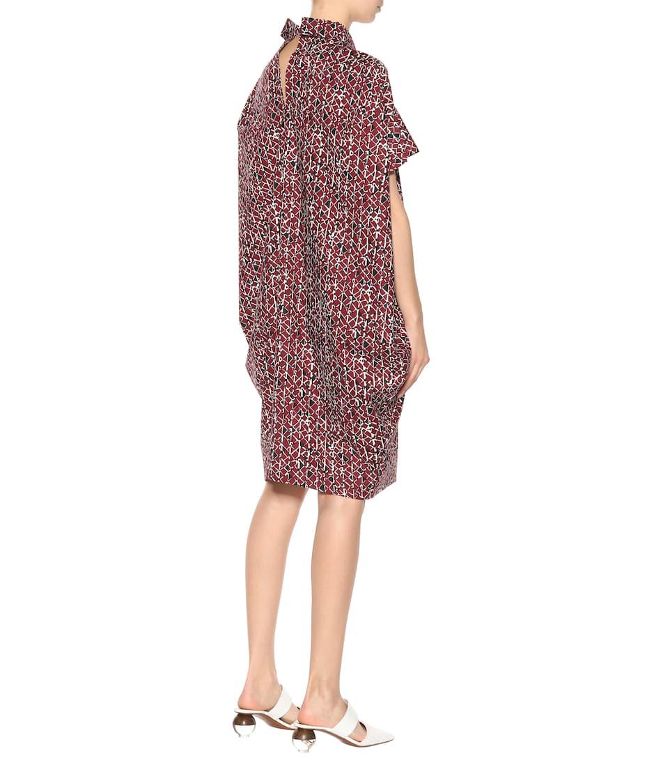 Marni Bedrucktes Kleid aus Baumwolle Breite Palette Von Online-Verkauf I7gfV2