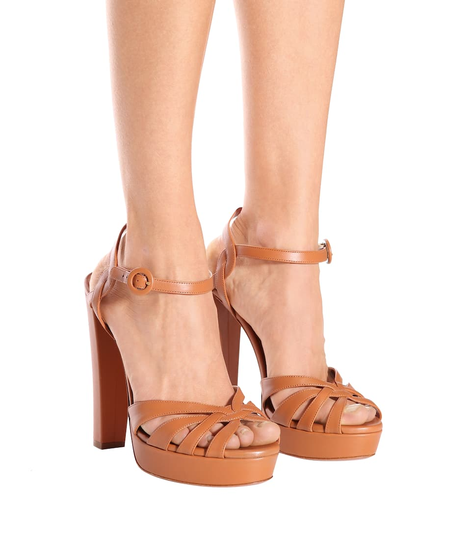 Aquazzura Plateausandalen Love Affair 130 aus Leder