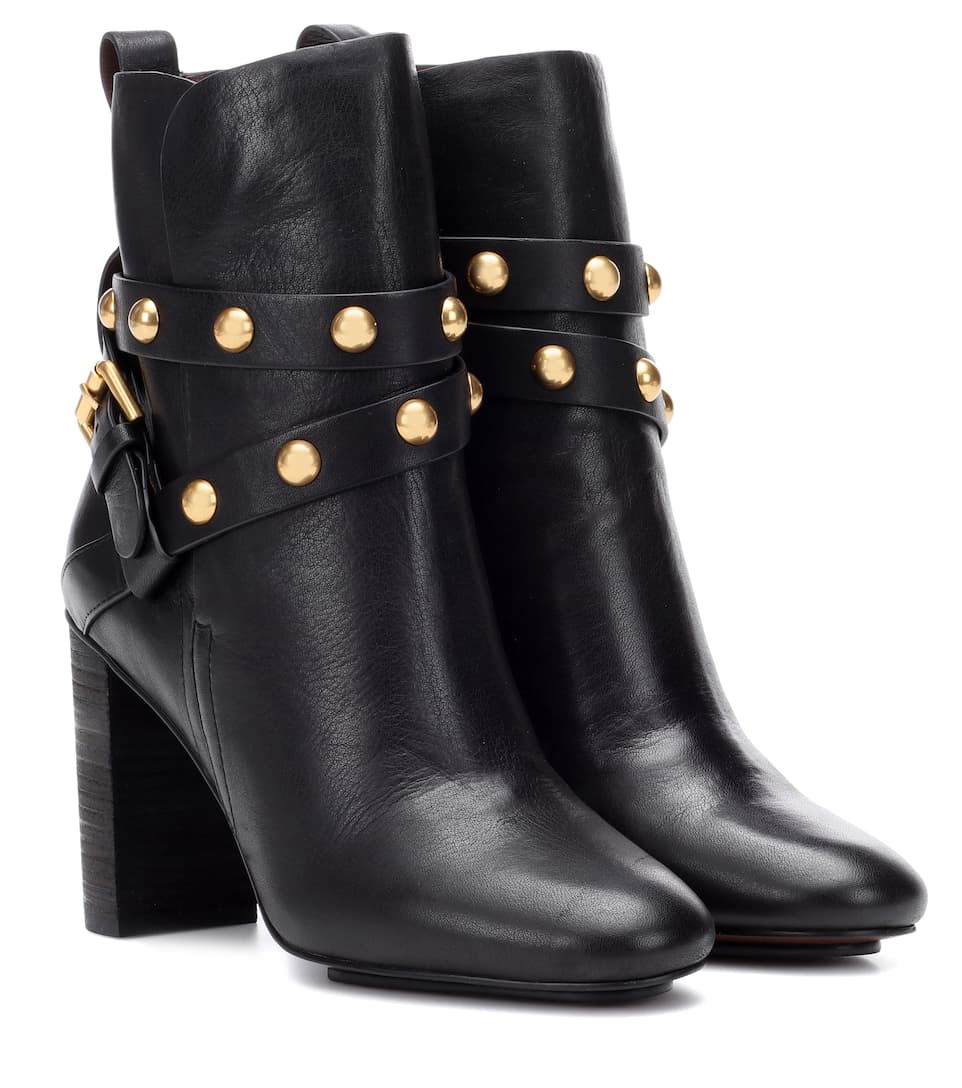 90a32c9cc6 Janis Leather Ankle Boots - See By Chloé | mytheresa.com