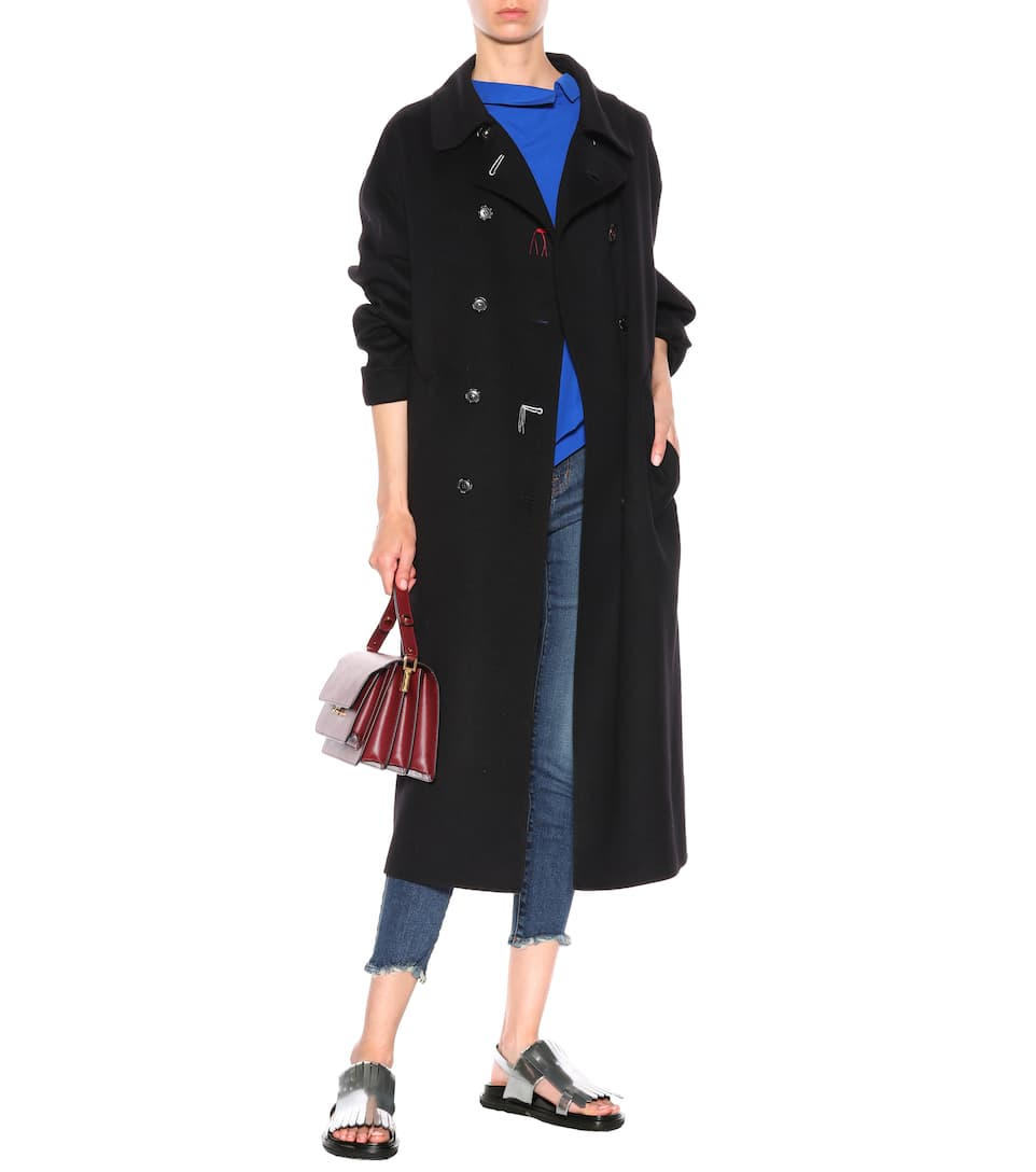 Marni Wool and cashmere-blend coat Black 2018 Unisex Cheap Online Official Cheap Price Comfortable Online Clearance 2018 New Outlet Pick A Best gxmlh