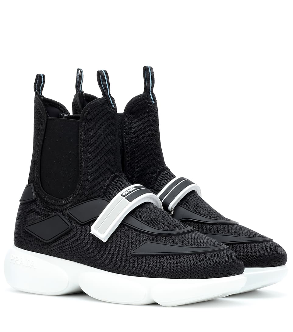 Cloudbust High Top Sneakers by Prada