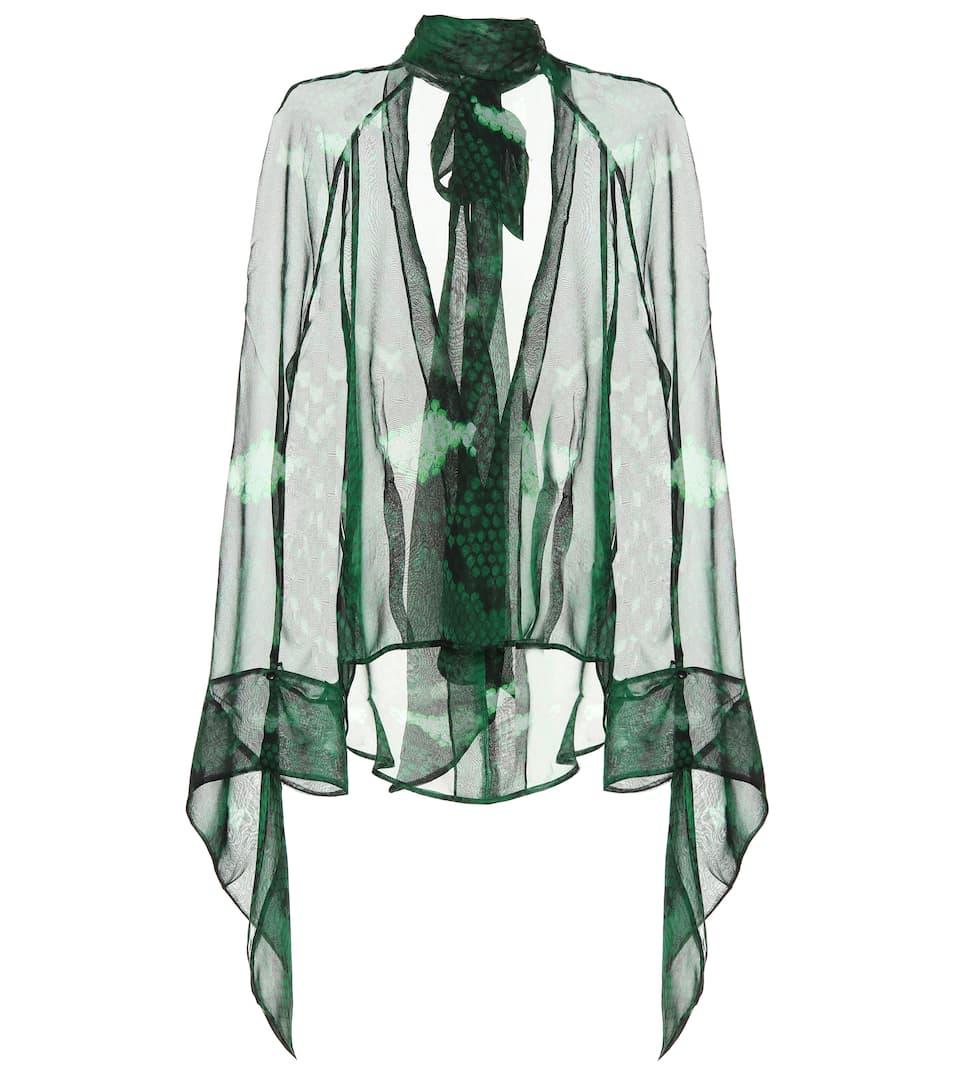 f3c90c5d8c457b Petar Petrov - Barry snake-printed silk blouse   Mytheresa