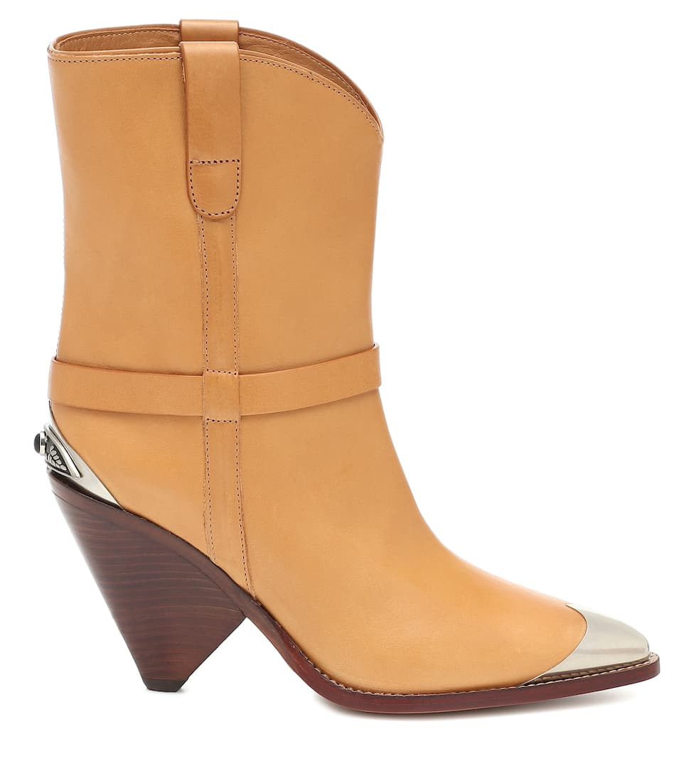 Lamsy Leather Ankle Boots - Isabel Marant Big Discount