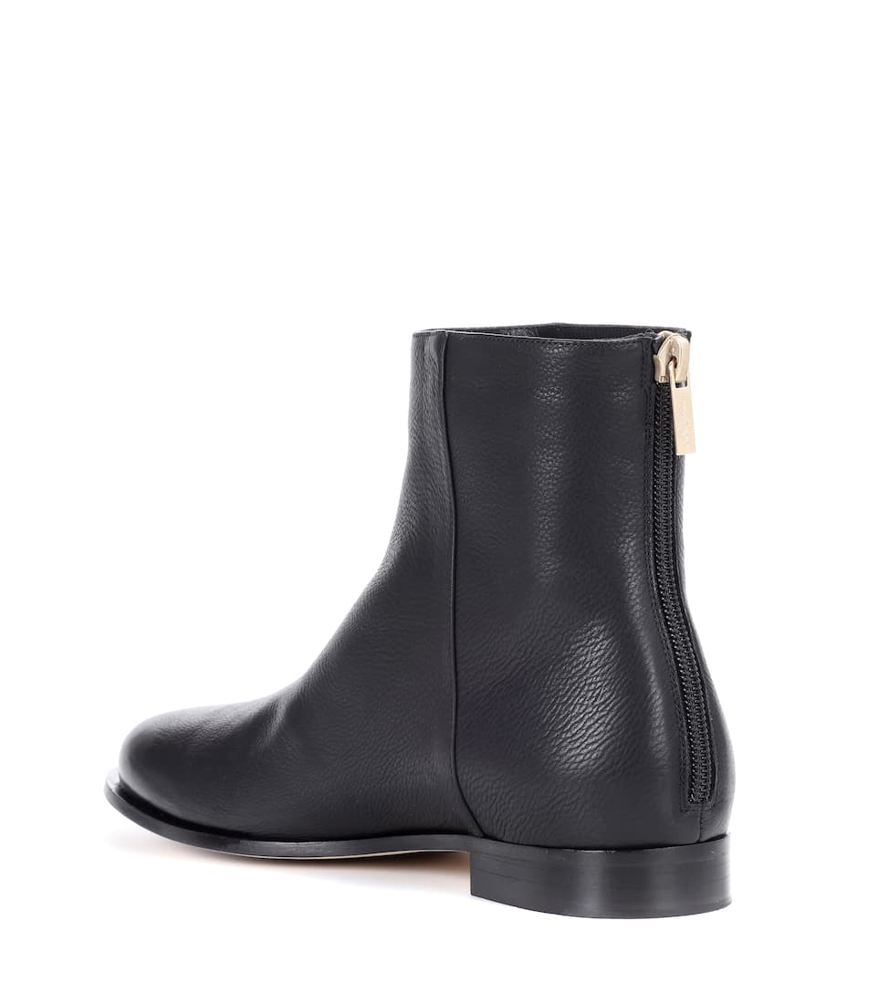 Browse Jeu Jimmy Choo - Bottines en cuir Duke Flat Offre Magasin Rabais ZPmYr