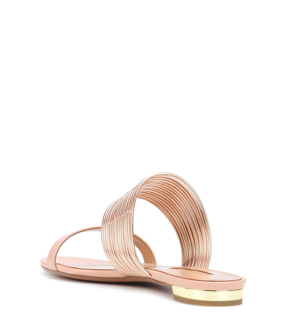 Aquazzura Sandalen Rendez Vous aus Leder