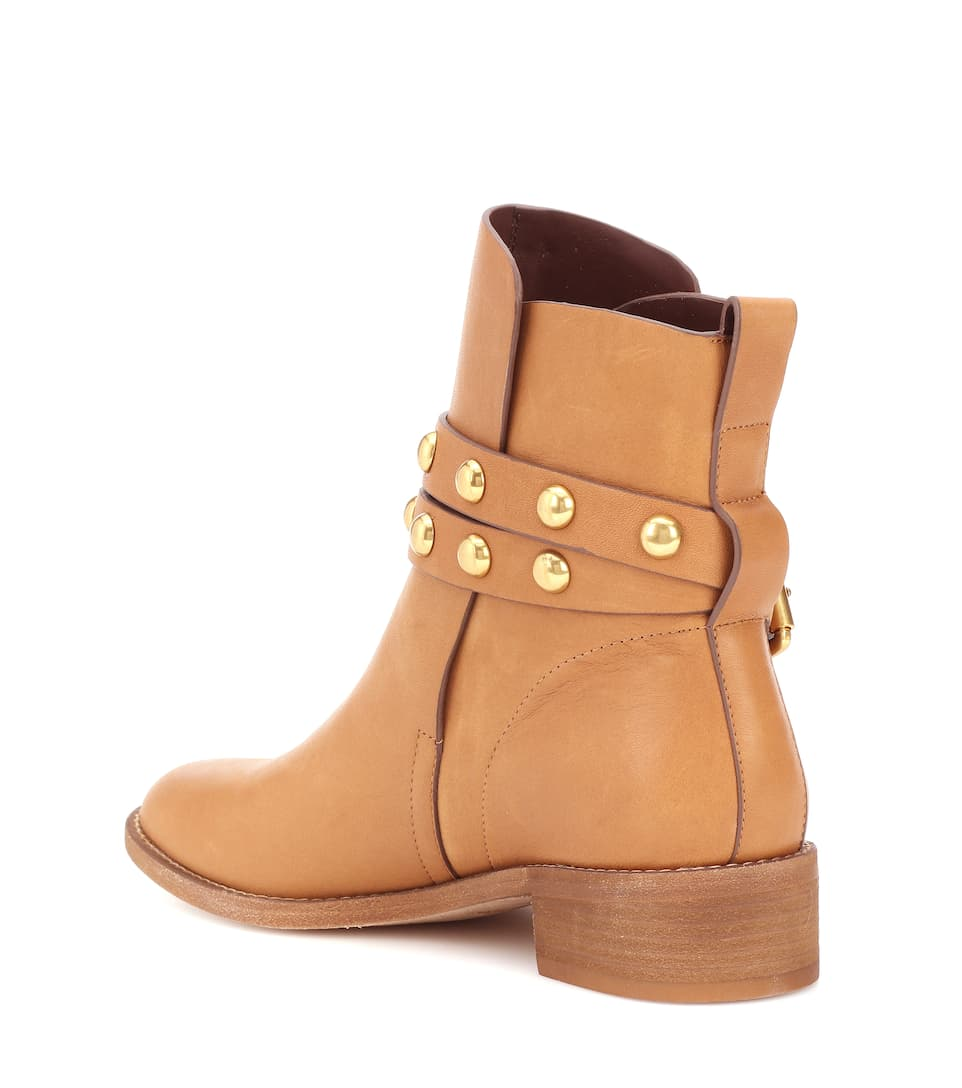 Cheap 2018 Unisex See By Chloé Salvador leather ankle boots Tan With Credit Card Sale Online U4yGFGYk
