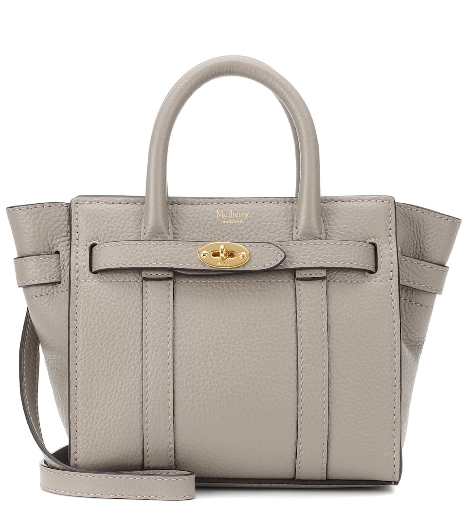 Bayswater Micro Leather Tote by Mulberry