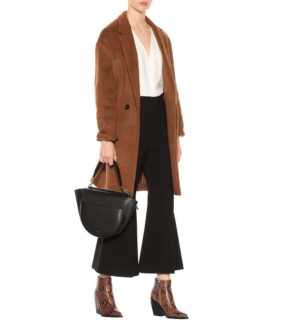 Chloé Stretch-wool flared pants Black Free Shipping Fashion Style EacOYFBc64