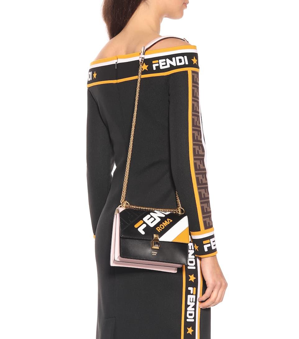 70f1ca6751 Fendi - FENDI MANIA Kan I Mini leather shoulder bag | Mytheresa