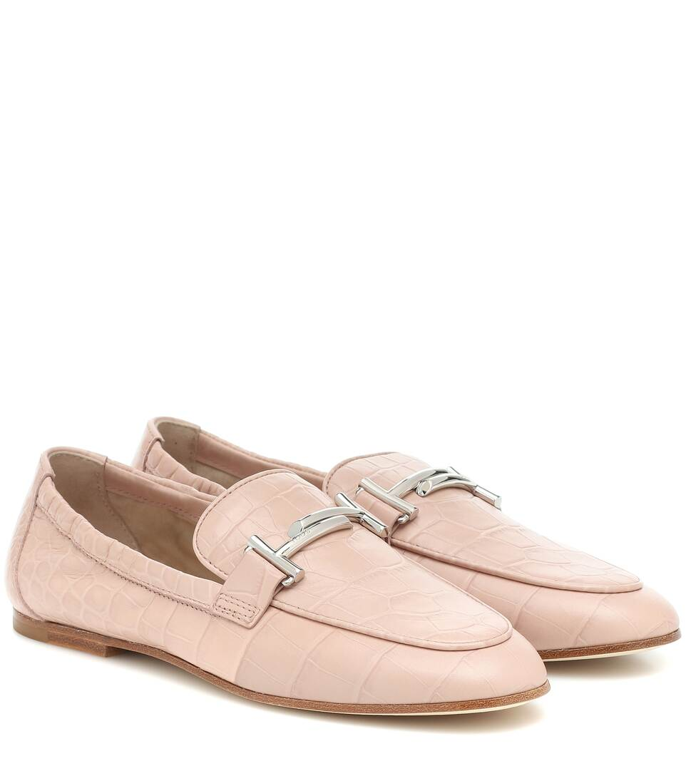 Loafers Doppia Aus Leder by Tod's