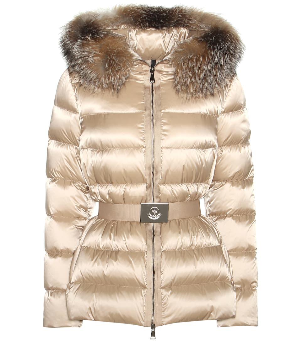 Moncler Tatie down jacket with fox fur