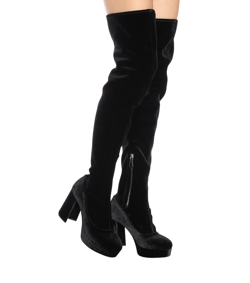 Miu Miu Velvet over-the-knee boots g2SLozP